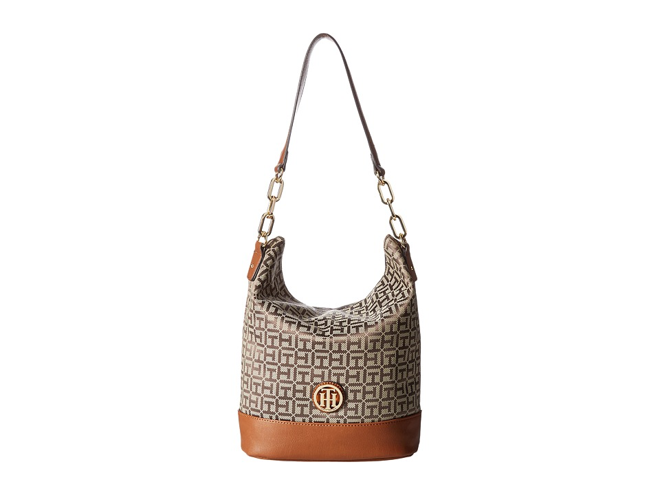 Tommy Hilfiger - Almira Hobo (Tan/Dark Chocolate) Hobo Handbags