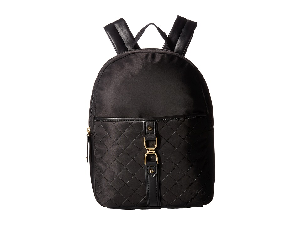 Tommy Hilfiger - Thea Quilt Nylon Backpack (Black) Backpack Bags