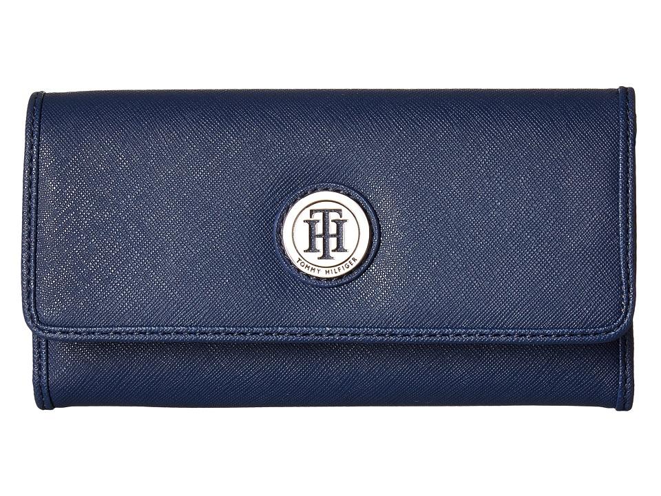 Tommy Hilfiger - Medallion Saffiano Continental Wallet (Tommy Navy) Wallet Handbags
