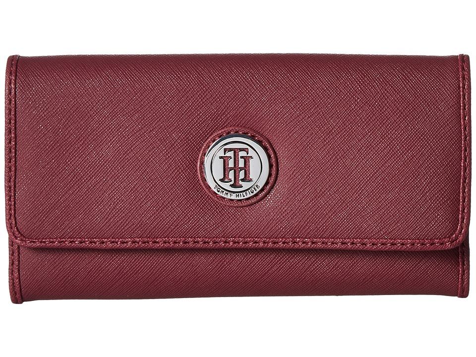 Tommy Hilfiger - Medallion Saffiano Continental Wallet (Merlot) Wallet Handbags