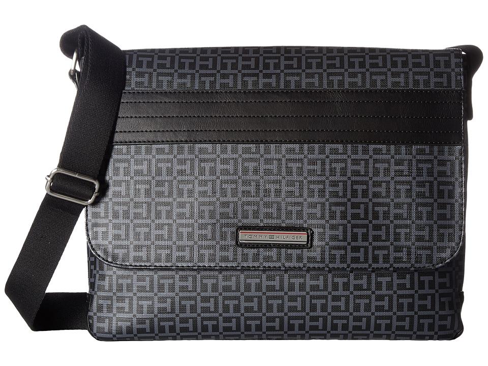 Tommy Hilfiger - Morgan Messenger (Black/Charcoal) Messenger Bags