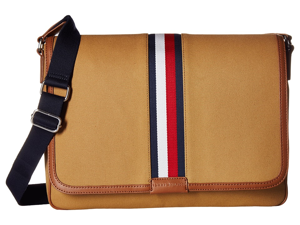 Tommy Hilfiger - Elijah Messenger Canvas (British Tan) Messenger Bags