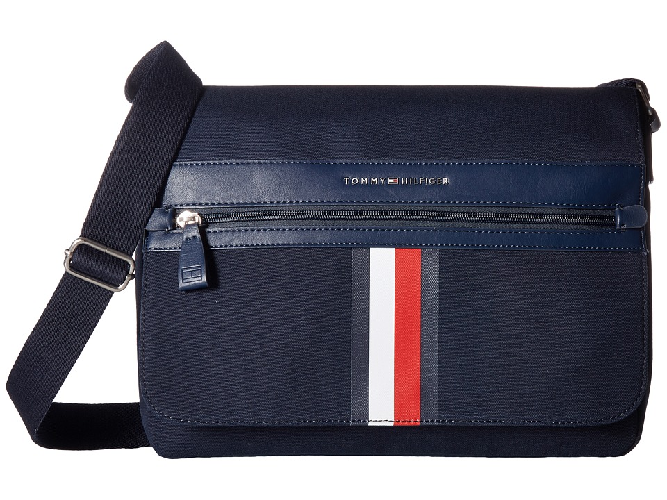 Tommy Hilfiger - Icon Messenger Canvas (Tommy Navy) Messenger Bags