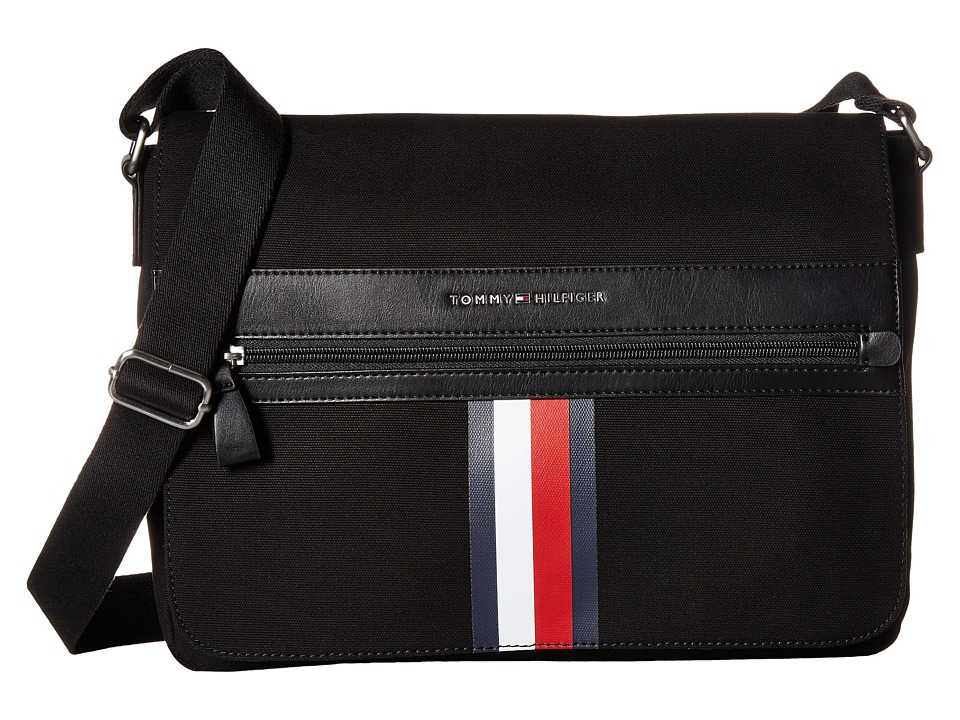 Tommy Hilfiger - Icon Messenger Canvas (Black) Messenger Bags