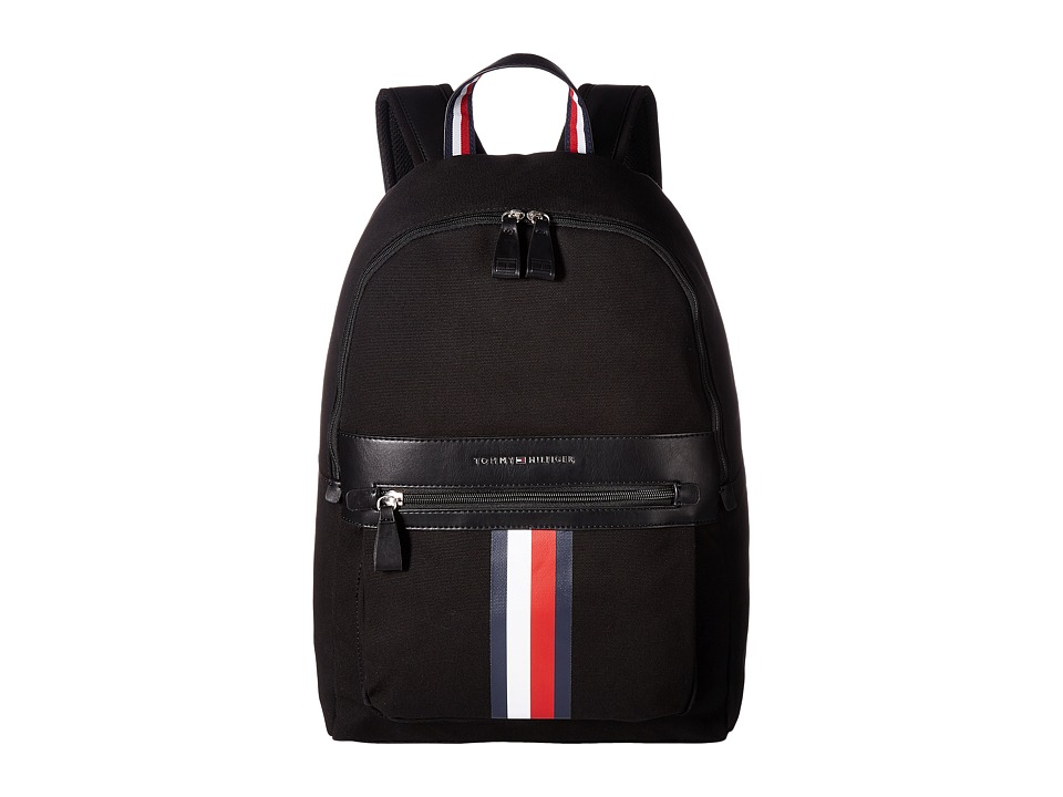 Tommy Hilfiger - Icon Backpack Canvas (Black) Backpack Bags
