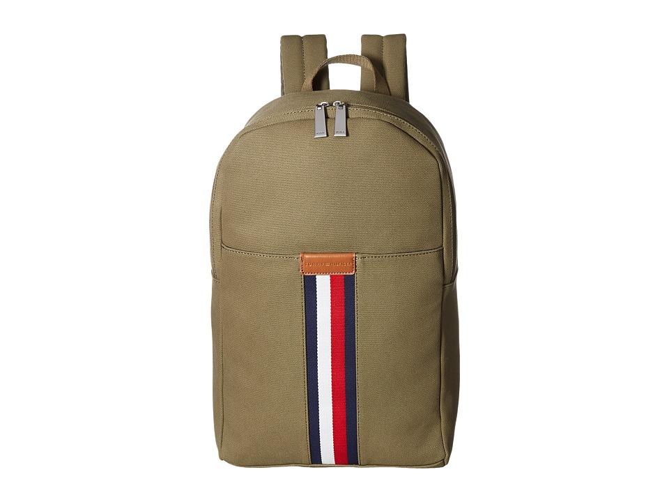 Tommy Hilfiger - Elijah Backpack Canvas (Olive) Backpack Bags