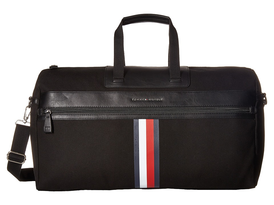 Tommy Hilfiger - Icon Duffel Canvas (Black) Duffel Bags
