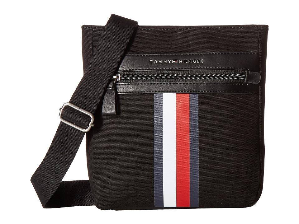 Tommy Hilfiger - Icon Crossbody Canvas (Black) Cross Body Handbags