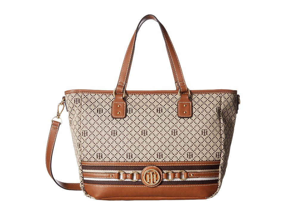 Tommy Hilfiger - Payton Tote (Tan/Dark Chocolate) Tote Handbags