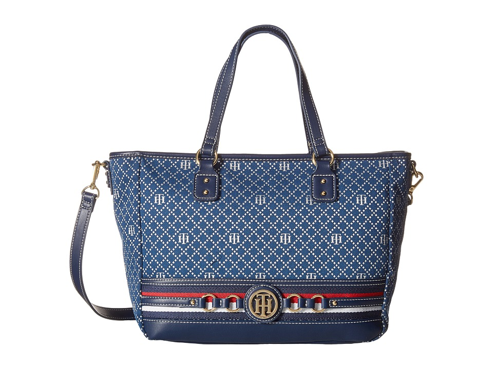 Tommy Hilfiger - Payton Tote (Navy/Multi) Tote Handbags