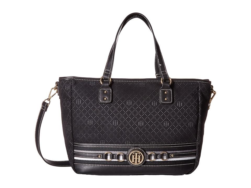 Tommy Hilfiger - Payton Tote (Black Tonal) Tote Handbags