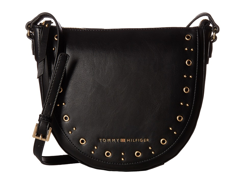 Tommy Hilfiger - Aileen Small Hobo (Black) Hobo Handbags