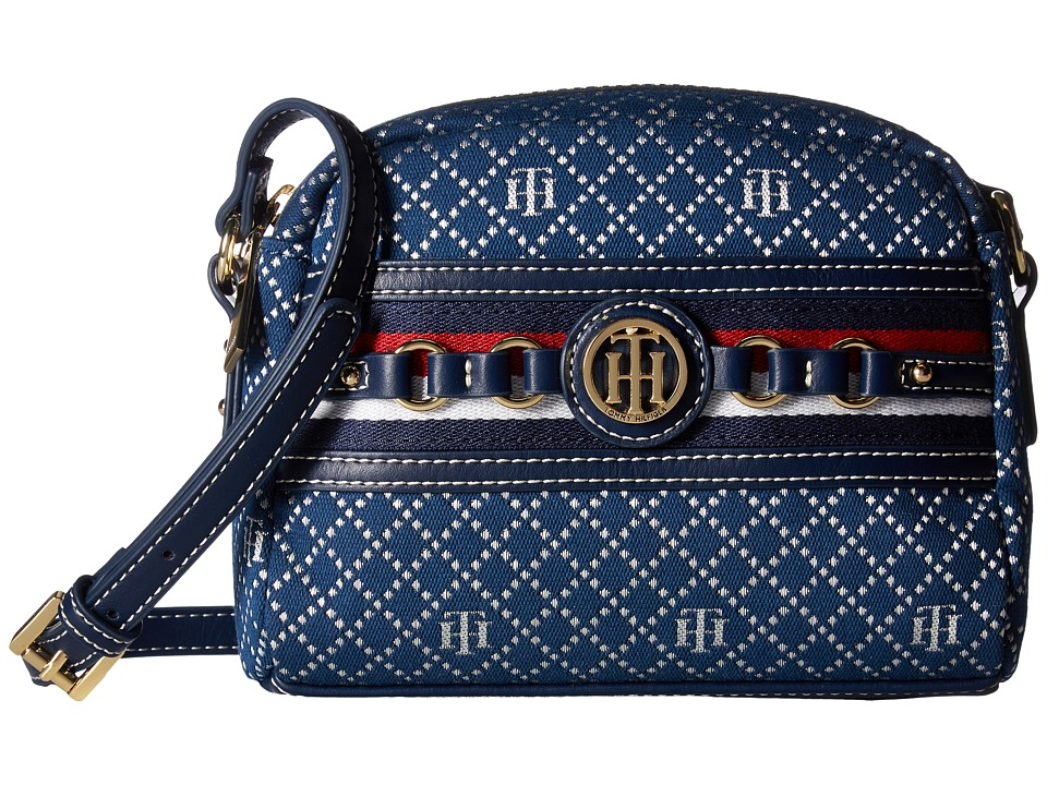 Tommy Hilfiger - Payton Camera Crossbody (Navy/Multi) Cross Body Handbags