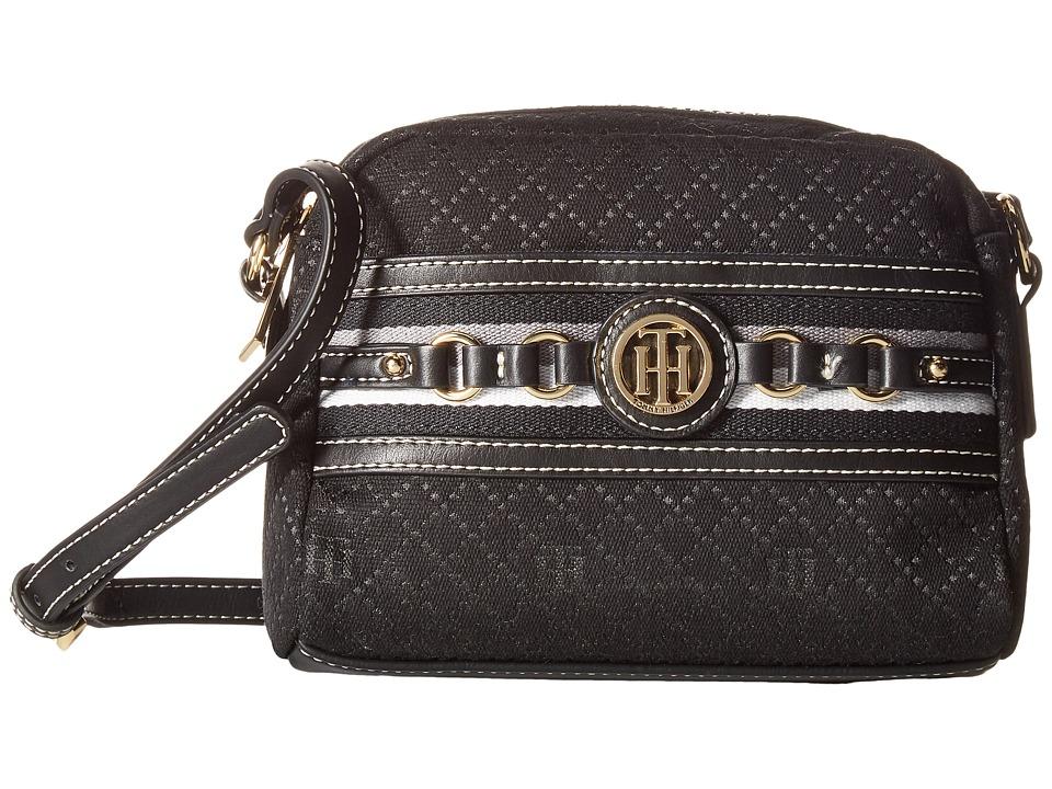 Tommy Hilfiger - Payton Camera Crossbody (Black Tonal) Cross Body Handbags