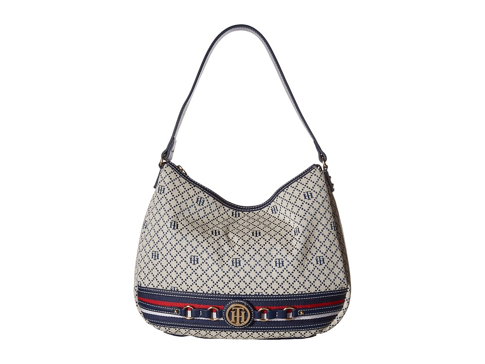 Tommy Hilfiger - Payton Hobo (Navy/Natural) Hobo Handbags