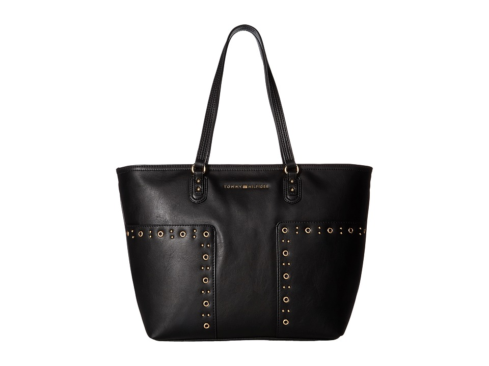 Tommy Hilfiger - Aileen Tote (Black) Tote Handbags