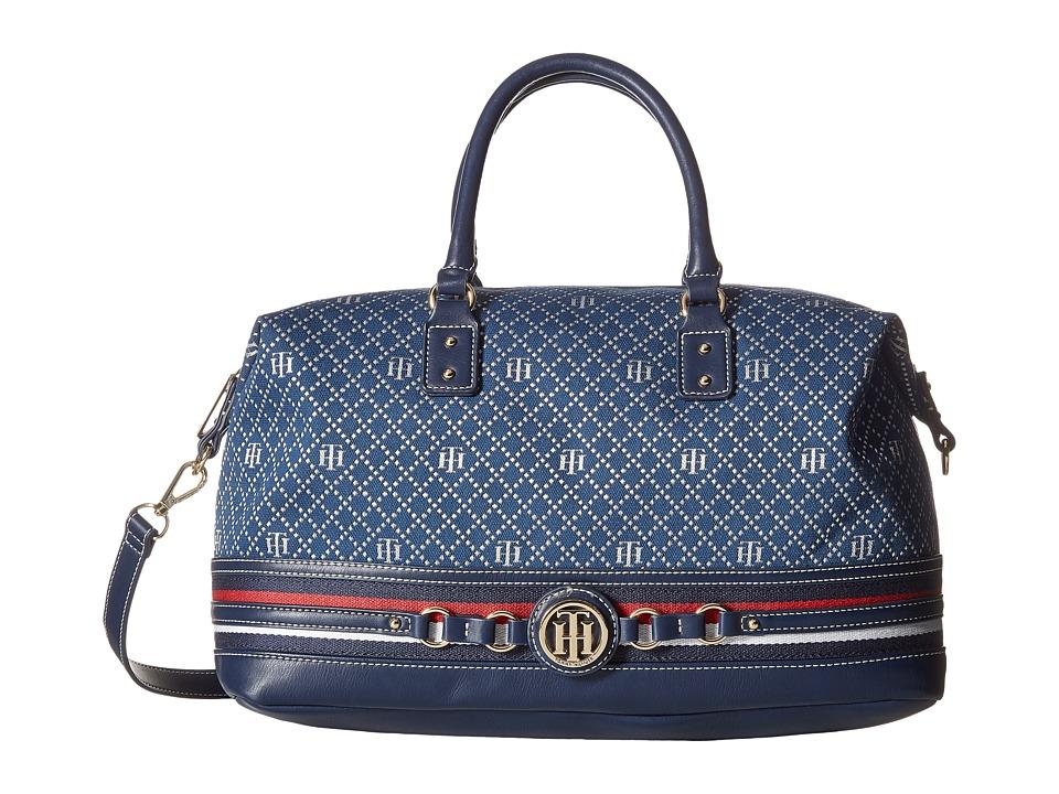 Tommy Hilfiger - Payton Convertible Satchel (Navy/Multi) Satchel Handbags
