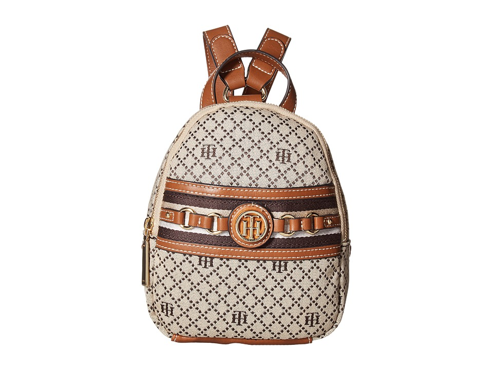 Tommy Hilfiger - Payton Mini Backpack (Tan/Dark Chocolate) Backpack Bags
