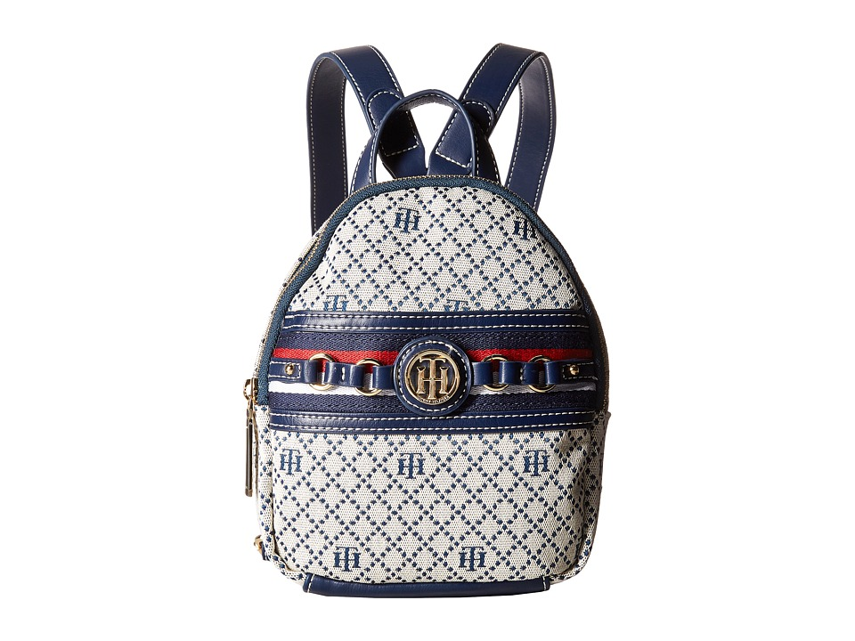 Tommy Hilfiger - Payton Mini Backpack (Navy/Natural) Backpack Bags