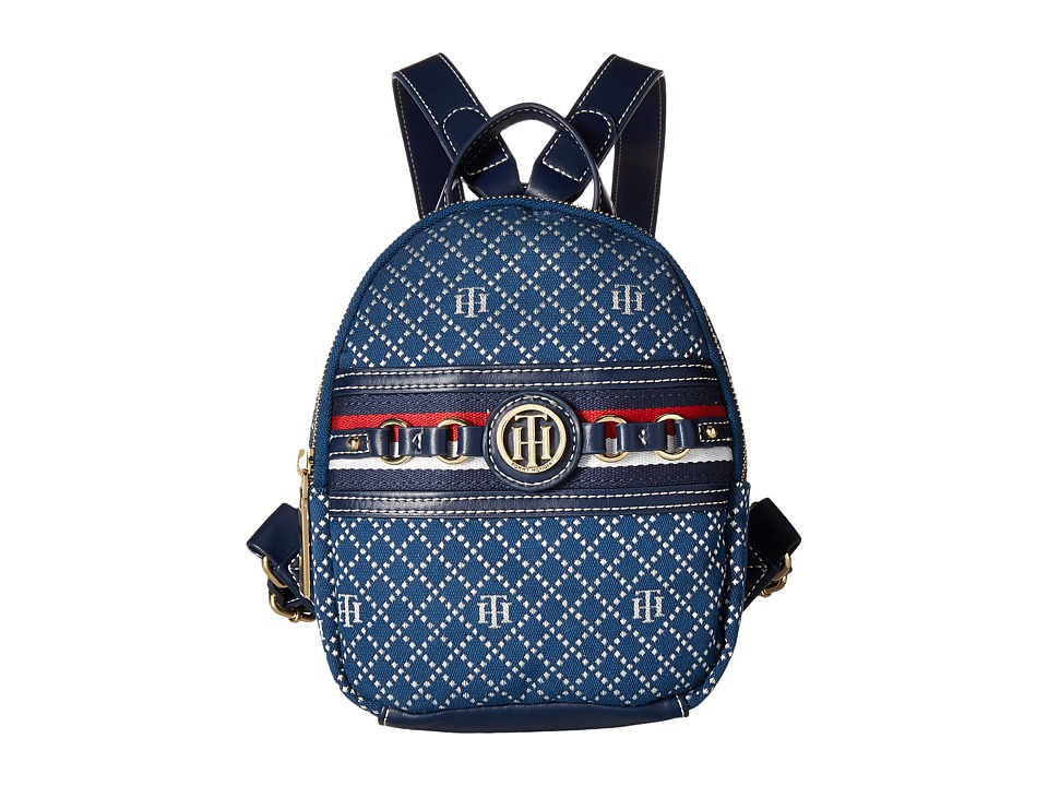 Tommy Hilfiger - Payton Mini Backpack (Navy/Multi) Backpack Bags