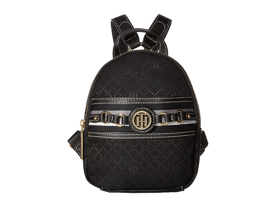 Tommy Hilfiger - Payton Mini Backpack (Black Tonal) Backpack Bags