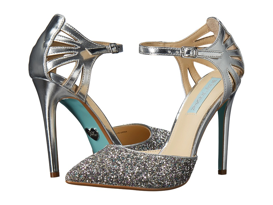 Blue by Betsey Johnson - Avery (Silver Metallic) High Heels