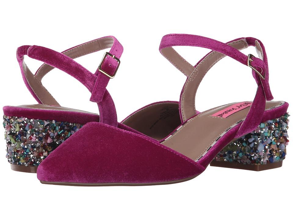 Blue by Betsey Johnson - Lena (Magenta Velvet) Women's 1-2 inch heel Shoes