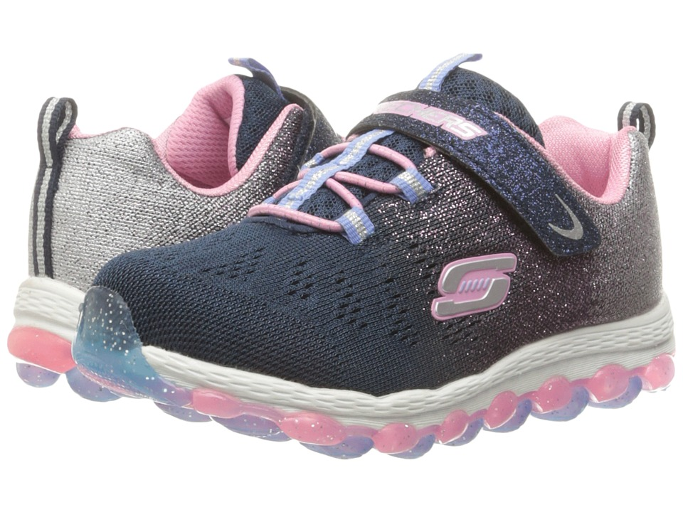 SKECHERS KIDS - Glitter Baby 80029N (Toddler/Little Kid) (Navy/Pink) Girl's Shoes