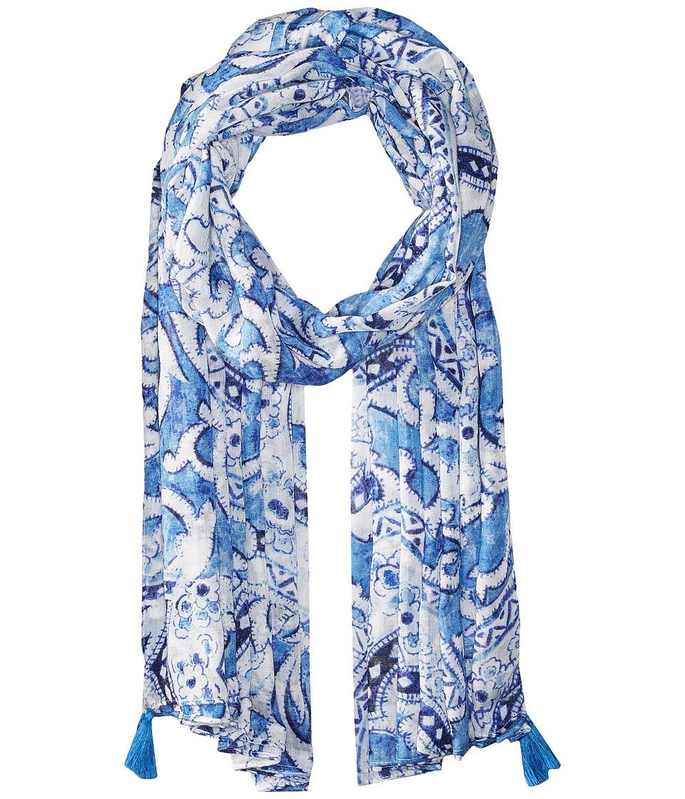 Echo Design - Tropez Paisley Pareo (Dazzling Blue) Scarves