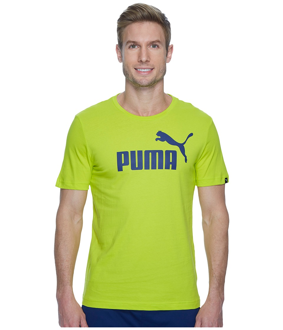 PUMA - Essential No. 1 Tee (Energy Yellow/Black) Men's T Shirt