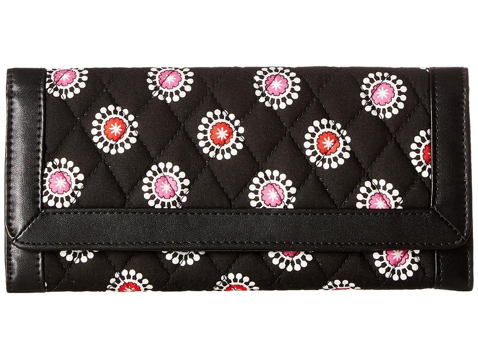 Vera Bradley - Trifold Wallet (Parisian Pom Poms) Wristlet Handbags