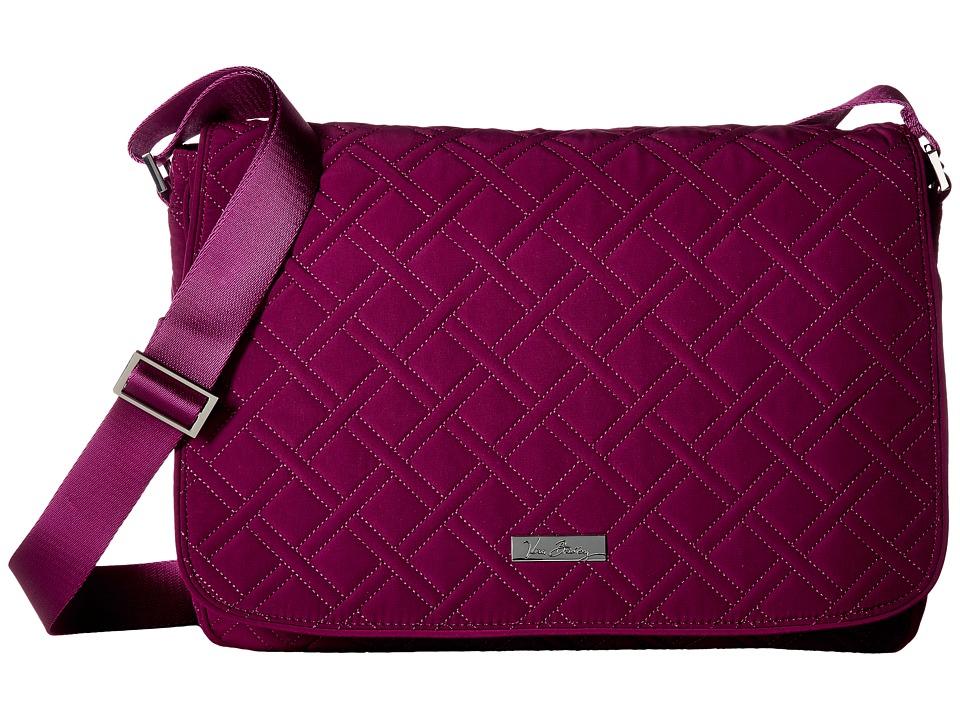 Vera Bradley - Laptop Messenger (Plum) Messenger Bags