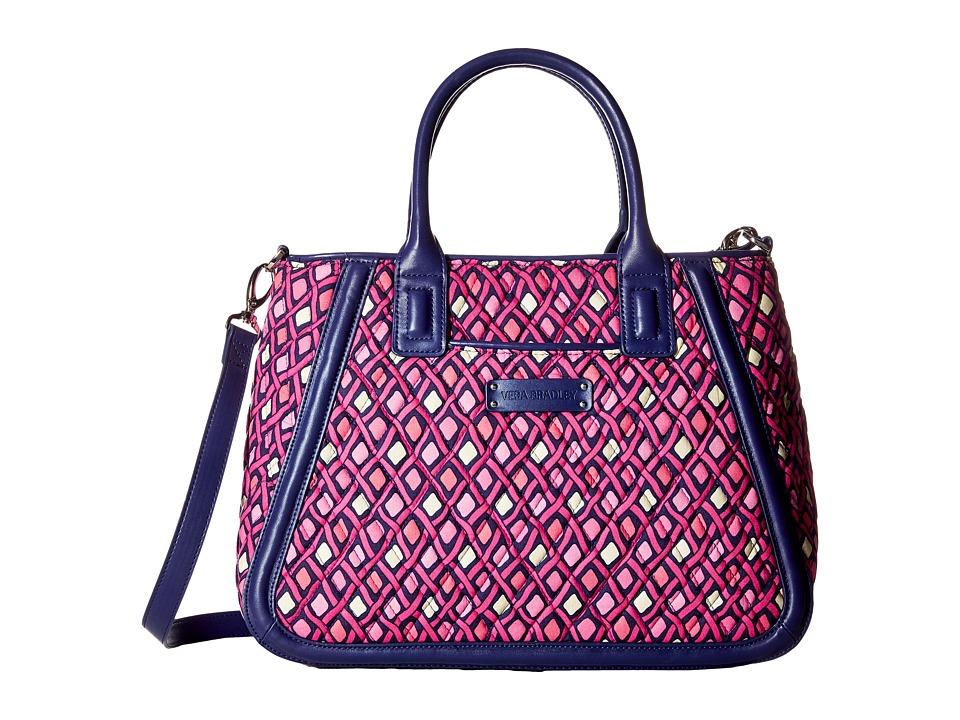 Vera Bradley - Trimmed Trapeze Satchel (Katalina Pink Diamonds) Satchel Handbags