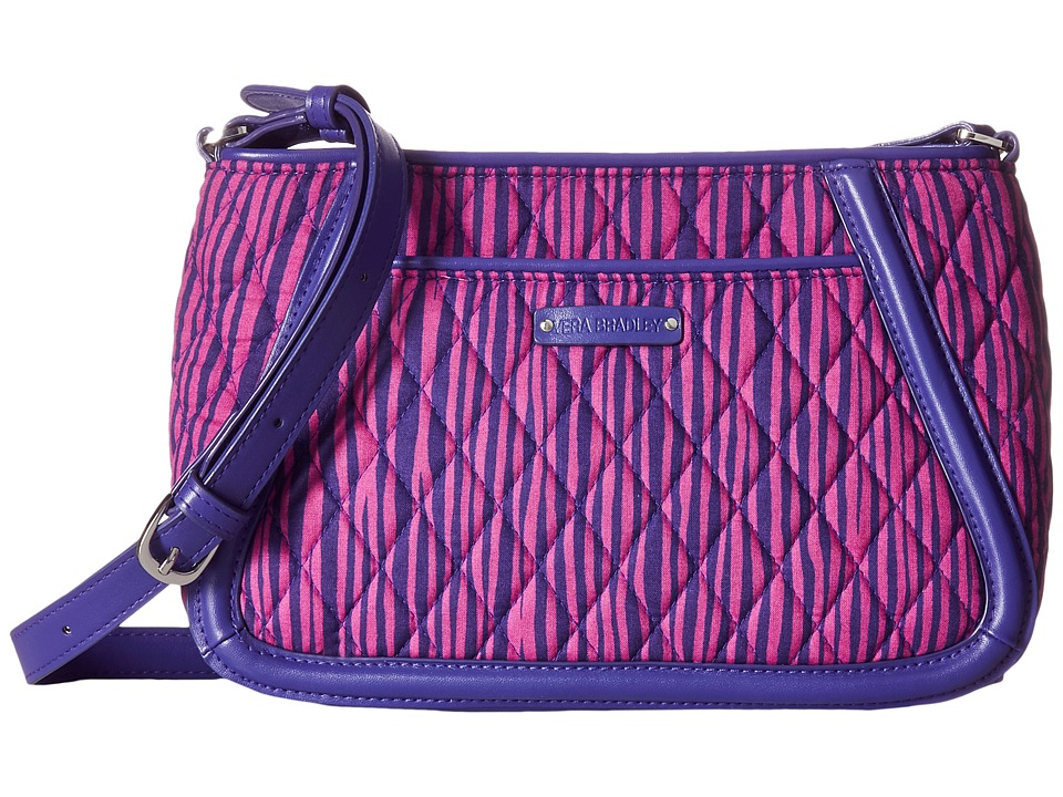 Vera Bradley - Trimmed Trapeze Crossbody (Impressionist Stripe) Cross Body Handbags