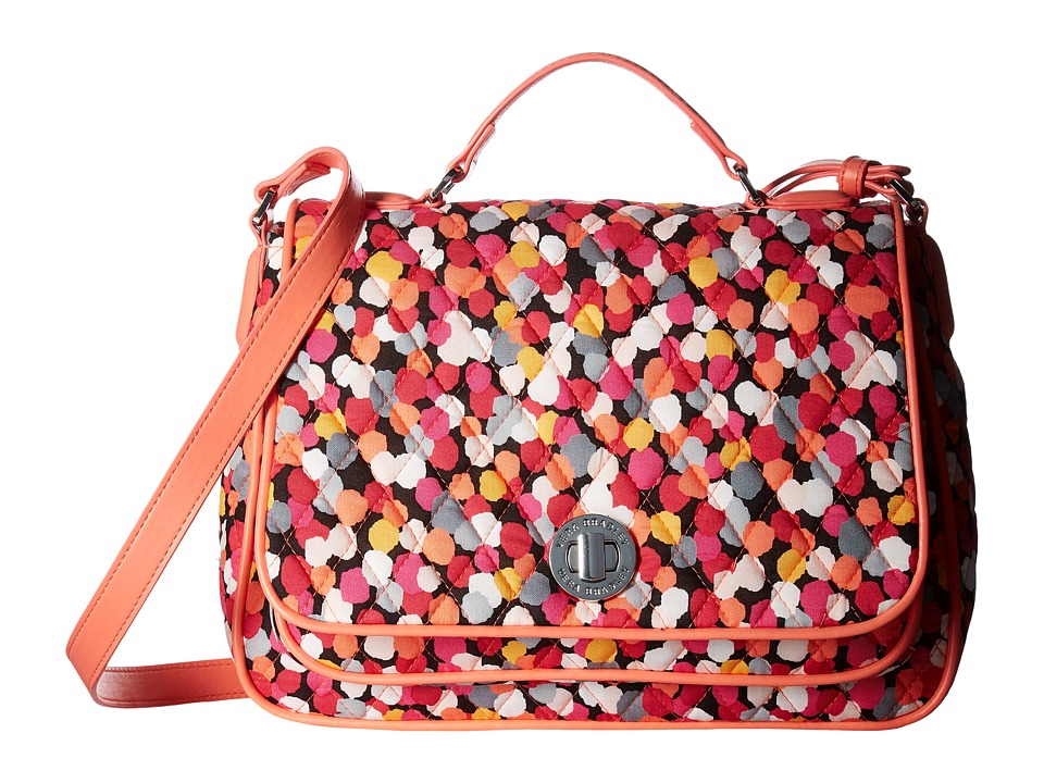 Vera Bradley - Turnlock Crossbody (Pixie Confetti) Cross Body Handbags
