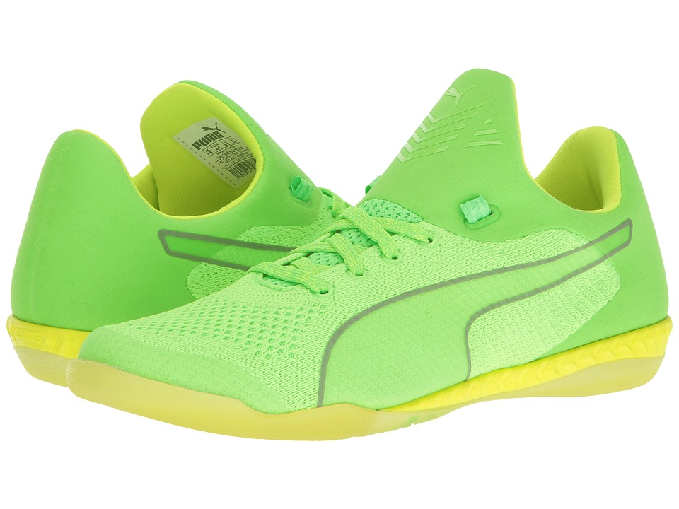 PUMA - 365 Evoknit Ignite CT (Green Gecko/Puma White/Safety Yellow) Men's Shoes