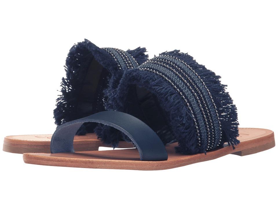 Joie - Sabri (Denim Fringe/Navy) Women's Sandals
