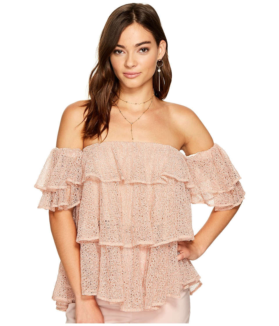 KEEPSAKE THE LABEL - Wide Awake Top (Blush) Women's Clothing