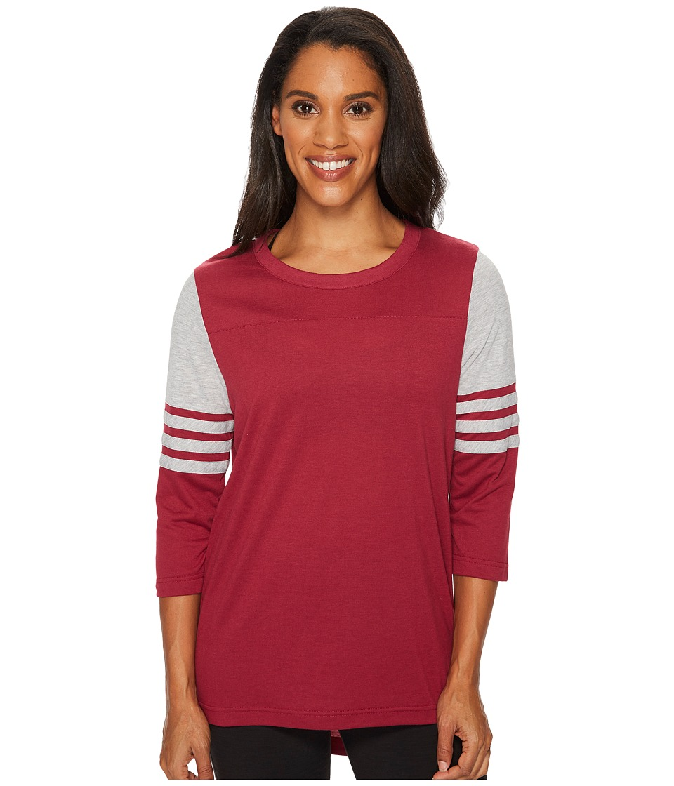 adidas Long Sleeve Jersey Top Q4 (Mystery Ruby/Medium Grey Heather) Women