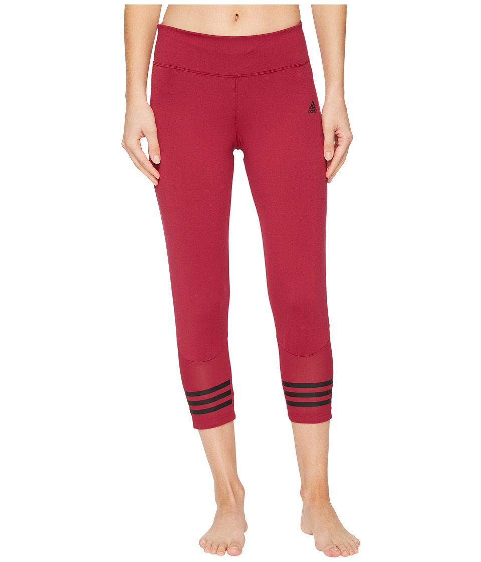 adidas Designed-2-Move 3/4 Tights (Mystery Ruby) Women