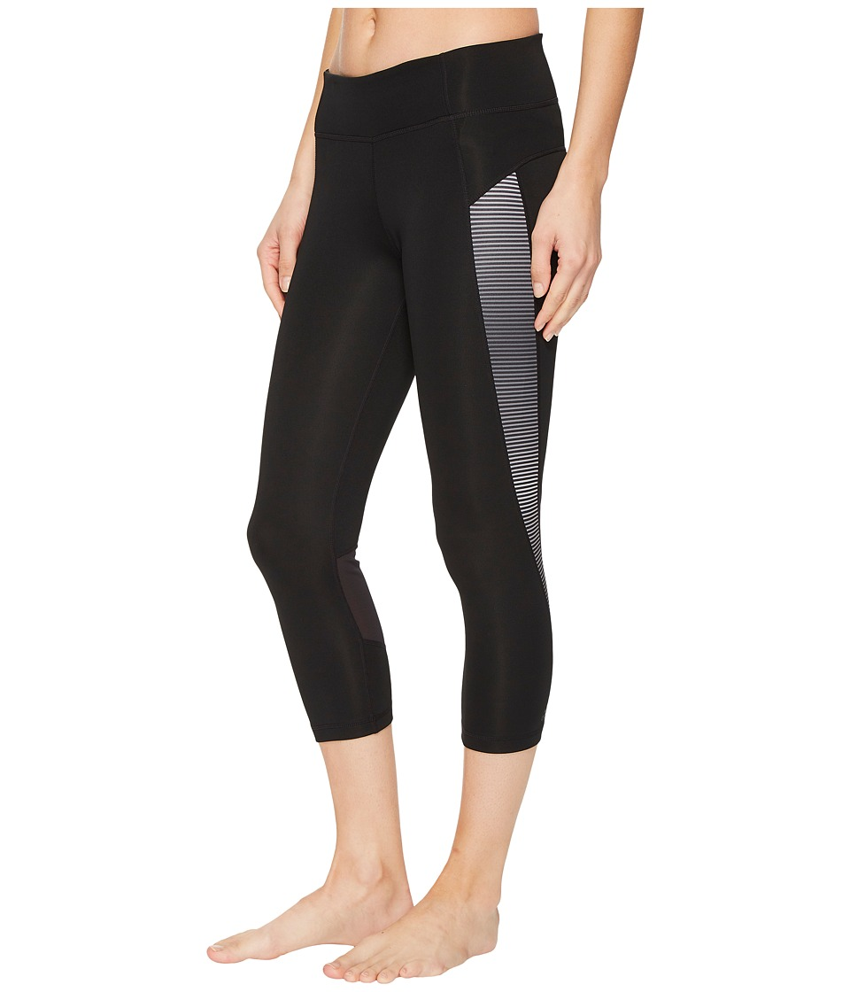 adidas D2M Shine Stripe Capris (Black/Print) Women