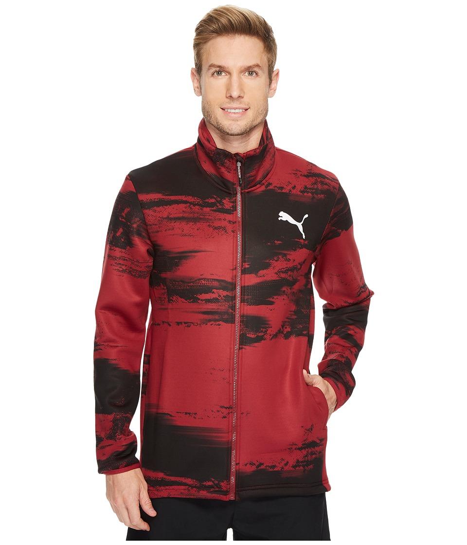 PUMA - Nocturnal Energy Full Zip (Tibetan Red Graphic) Men's Coat