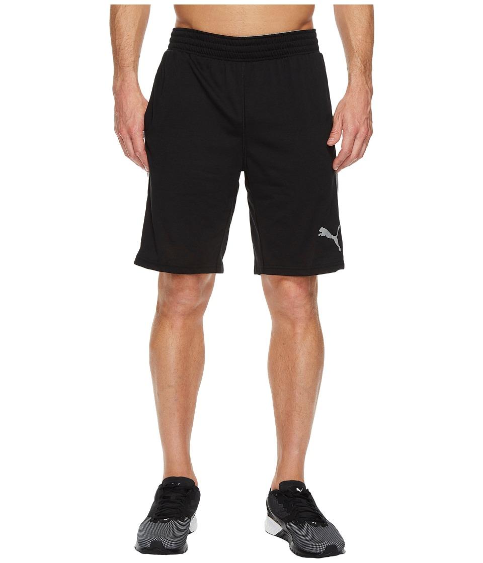 PUMA - Essential Dri-Release Shorts (PUMA Black/Medium Grey Heather) Men's Shorts
