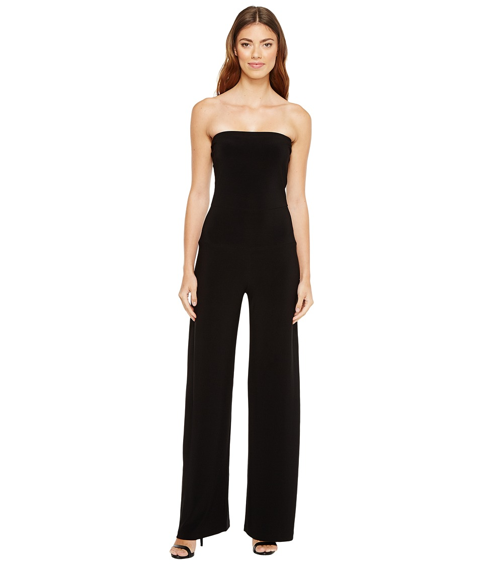 KAMALIKULTURE by Norma Kamali - Strapless Jumpsuit (Black) Women's Jumpsuit & Rompers One Piece