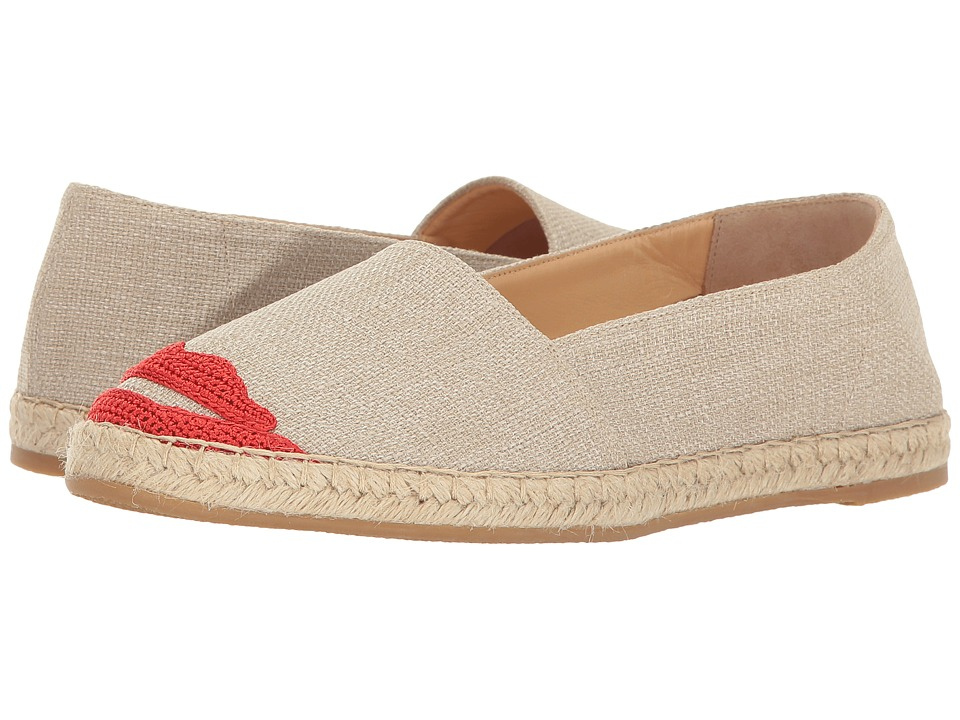 Charlotte Olympia Kiss Me Espadrilles (Grey Canvas) Women