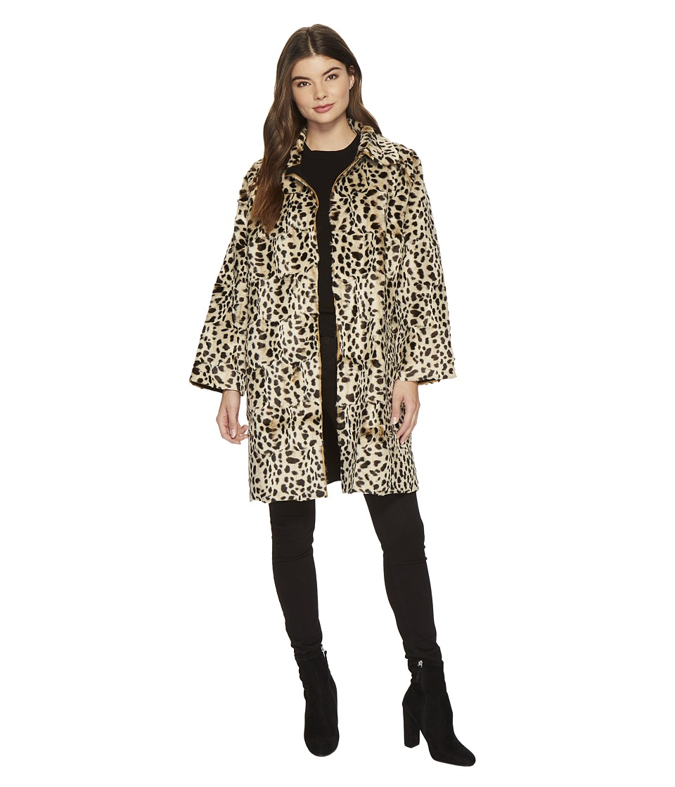 KAMALIKULTURE by Norma Kamali - Mens-Cut Trench (Leopard) Women's Coat