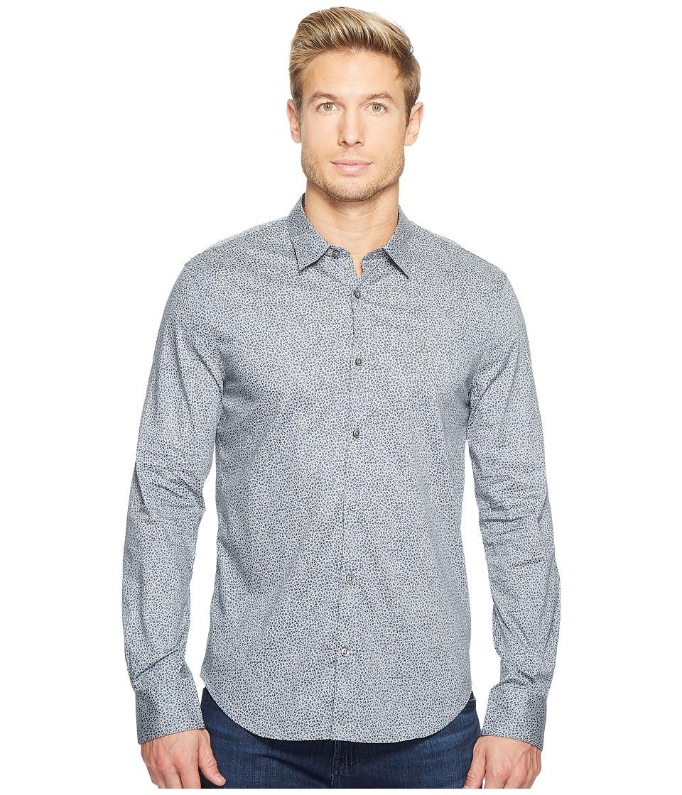 John Varvatos Star U.S.A. - Slim Fit Turnback Placket w/ Contrast W434T2L (Ash) Men's Clothing