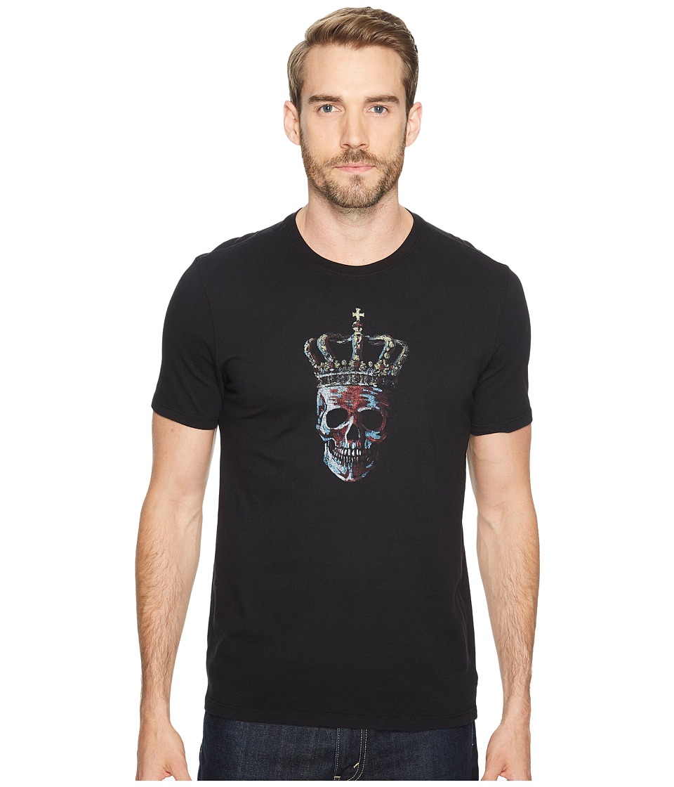 John Varvatos Star U.S.A. - Crowned Skull Graphic Tee (Black) Men's Clothing