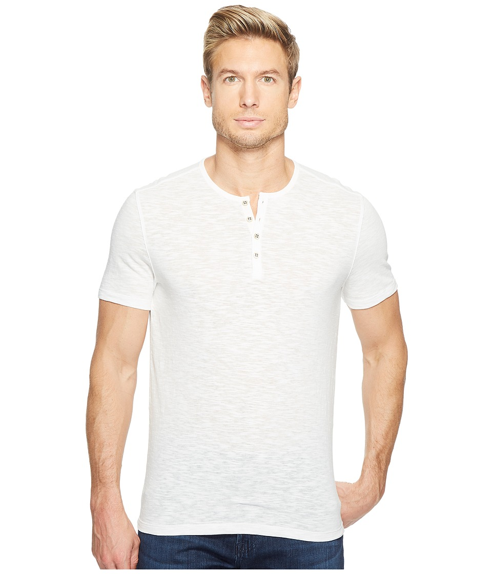 John Varvatos Star U.S.A. - Melange Short Sleeve Knit Henley K3167T2L (Salt) Men's Clothing