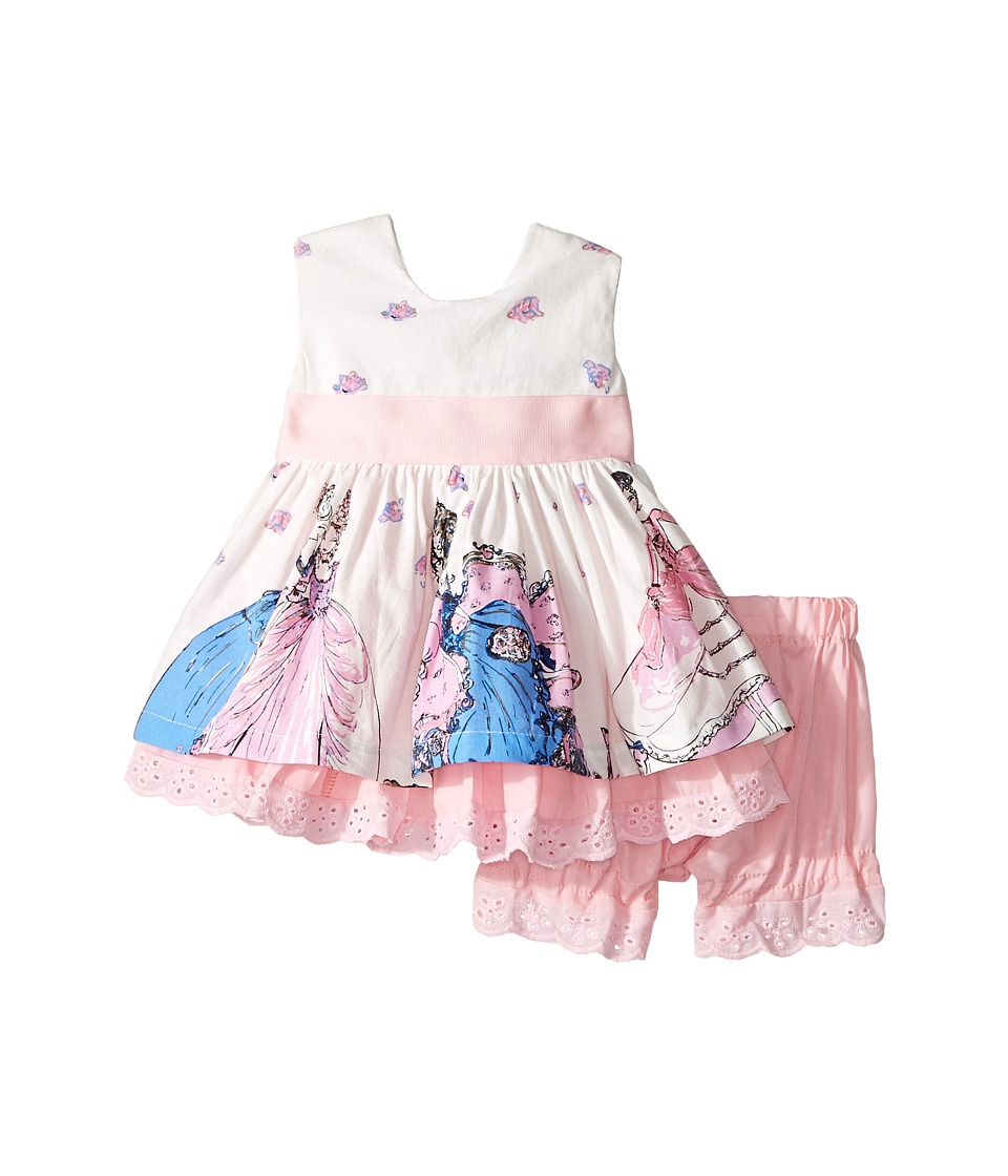 fiveloaves twofish - A Girl and Her Shoes Party Dress (Infant) (White/Pink) Girl's Dress